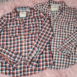 Two Hollister Plaid Shirts